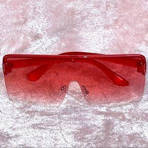 Oversized Fashion Sunglasses Red